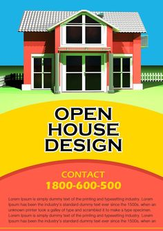open house flyer samples