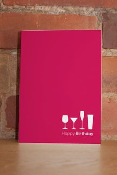 Birthday Drinks Printable Greeting Card  pdf by LittleShopofNotes, $4.50