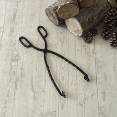 Individual hand forged, solid steel fireside tongs with a traditional twist. Available as a set or as single items - shovel, poker, brush and tongs. Fireplace Set, Christmas Fireplace, Jim Lawrence Lighting, Finishing Materials, Hearth, Fun Projects, Home Accessories, Tools, Cosy