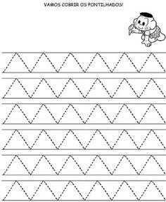 ATIVIDADES DE COORDENAÇÃO MOTORA Preschool Writing, Preschool Learning Activities, Preschool Printables, Writing Activities, Preschool Colors, Lkg Worksheets, Phonics Worksheets, Tracing Worksheets, Pre Writing