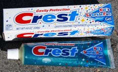 Crest Sparkle Toothpaste.