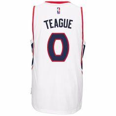 Jeff Teague Atlanta Hawks NBA Adidas Men s White 2014-15 Climalite Swingman  Home Jersey 92853f8cf