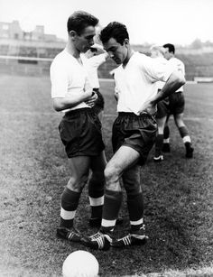 Jimmy Greaves with Brian Clough