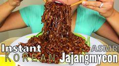ASMR: Instant Korean Black Bean Noodles *Eating Sounds*