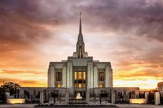 This is the newly remodeled Ogden Temple in Northern Utah! It is beautiful and the sunset was great!