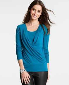 Crossover Front Long Sleeve Top