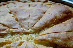 ryzopita almyri Cookie Dough Pie, Kai, Spanakopita, Greek Recipes, Feta, Mashed Potatoes, Turkey, Bread, Cooking