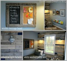 Easy DIY wall and art projects from pallets.