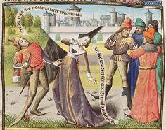 Een man en een vrouw slaan de hand aan zichzelf om te weerstaan aan de verleiding overspel te plegen / A man and a woman kill themselves with a dagger to prevent adultery