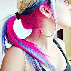 2019 Hot Ombre & Highlights Trend: 30 rainbow colored hairstyles for chic women to try - Women Hair Models Ombre Hair, Blonde Hair, Blonde Pink, Darker Blonde, Purple Hair, Bleach Blonde, Brunette Hair, Ombre Highlights, Colored Highlights