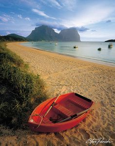 Lord Howe Island by steveparish, via Flickr. Lord Howe Island (formerly Lord Howe's Island) is an irregularly crescent-shaped volcanic remnant in the Tasman Sea between Australia and New Zealand, 600 kilometres (370 mi) directly east of mainland Port Macquarie, and about 900 kilometres (560 mi) from Norfolk Island.