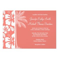 ReviewCoral Pink Tropical Hibiscus; Summer Palm Custom Inviteswe are given they also recommend where is the best to buy