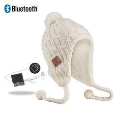 3611d30b462699 Vibejam twister knitting Peruvian Bluetooth music beanie hat Warm Winter  Hats, Headset, Beanie Hats