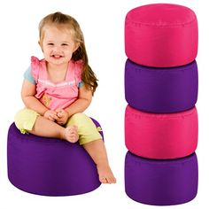 8b3a8c0c1f The kid s seat pods stack away neatly in a corner and they are a great  space saving solution. Bean bags ...
