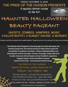 Haunted Halloween River Cruise!  #hudsonvalley #hudsonriver #halloween #cruise @prideofthehudson