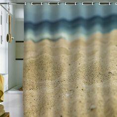 Good Leah Flores Sandy Beach Shower Curtain