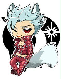 Fox sin of Greed Anime Chibi, Kawaii Anime, Kawaii Chibi, Anime Manga, Anime Art, Seven Deadly Sins Anime, 7 Deadly Sins, 7 Sins, Fire Emblem