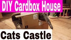 DIY: Mini Christmas Cardboard House For Cats