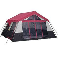 two room tent with closets