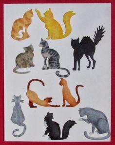 Frantic Stamper Happenings: Coloring Cats (Kathy Berger)