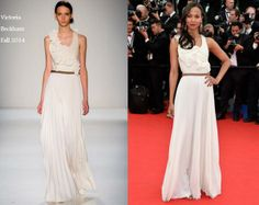 Zoe Saldana In Victoria Beckham - 'Grace of Monaco' Cannes Film Festival Premiere & Opening Ceremony. Re-tweet and favorite it here: https://twitter.com/MyFashBlog/status/466752459927724034/photo/1