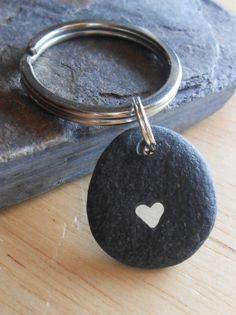 Beach Pebble Keychain Beach Stone Pendant ROCK by SeaFindDesigns d525b1ebf76c
