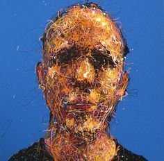 Craig Paul Nowak abstract drip portrait you me everybody blue Drip Painting, Abstract Portrait, Jackson Pollock, Pictures To Paint, Portraits, Paintings, Artist, Blue, Paint