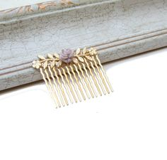 Floral Hair Comb Gold Hair Comb Wedding Hair by YaelSteinberg, $29.00