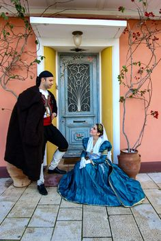 Mediterranean People, Folk Dance, Tulle, Culture, Costumes, Traditional, Couples, Skirts, Greeks