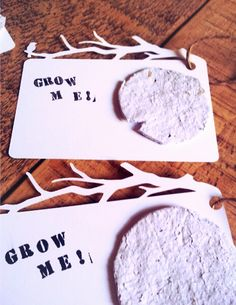 plantable seed paper gift tags (tutorial)