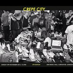 Who will be attending Crepe City Sneaker Festival this weekend in London?! #crepecity