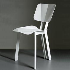 Origami Chair by So Takahashi: Elegant in powder coated sheet metal. Chaise Origami, Origami Chair, Modern Chairs, Modern Furniture, Furniture Design, Metal Chairs, Sheet Metal, Chair Design, Dining Chairs