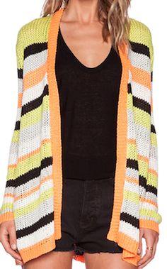 Bright stripe cardigan