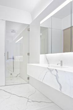 Imitación mármol. Elegancia y luminosidad #baños