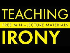 Understanding Irony | Laura Randazzo – Solutions for the Secondary Classroom