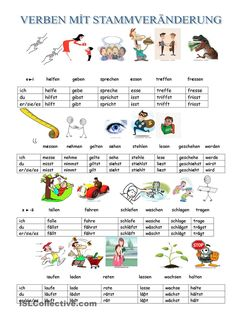 Verbs with stem changes and their imperative - Famous Last Words Study German, Learn German, Learn French, German Grammar, German Words, French Lessons, Spanish Lessons, Dativ Deutsch, German Resources