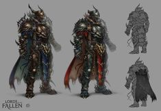 LOTF demonic warrior by len-yan fighter platemail armor | NOT OUR ART - Please click artwork for source | WRITING INSPIRATION for Dungeons and Dragons DND Pathfinder PFRPG Warhammer 40k Star Wars Shadowrun Call of Cthulhu and other d20 roleplaying fantasy science fiction scifi horror location equipment monster character game design | Create your own RPG Books w/ www.rpgbard.com