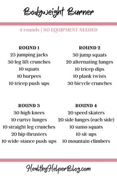 Hiit Workout At Home, At Home Workouts, Ab Workouts, Full Body Bodyweight Workout, Bodyweight Workout Routine, Park Workout, Fitness En Plein Air, Countdown Workout, Body Weight