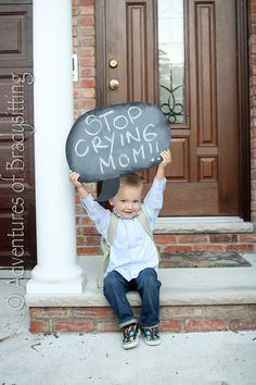 How cute is this for a first day of school photo idea?