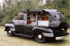 1949 Chevy Book-mobile...wonder if there are any The Ghost and Mrs. McClure books in there? Looks like a place Jack would hang out : )