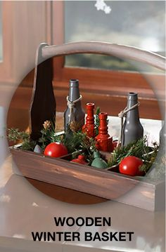 This holiday DIY project makes a festive table centerpiece. A can of spray paint can go a long way this holiday season!