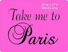 Take Me to Paris Line wall vinyl decal