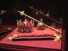 Crown of Bolesław I the Brave.and the orb and sceptre used by Stanislaus II August of Poland. Copies were made in crown jewels, consisting of the crown of Bolesław I the Brave, and the orb and sceptre used by Stanislaus II August of Poland. British Crown Jewels, Royal Crown Jewels, Royal Crowns, Royal Jewelry, Tiaras And Crowns, Royal Tiaras, Oldenburg, Circlet, Tower Of London