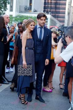 July 17, 2014 Olivia Palermo and Johannes Huebl photographed together in New York City.
