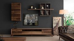Vario Wood Tv-Einheit - Home Dekoration Tv Unit Furniture, Home Furniture, Furniture Design, Lcd Panel Design, Condo Living Room, Living Rooms, Modern Interior, Interior Design, Living Room Tv Unit Designs