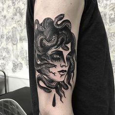 Medusa tattoo by Scott Move (@ scottmove)