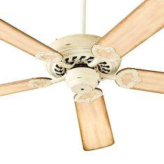 "Quorum International 17525 Monticello 52"" 5 Blade Hanging Indoor Ceiling Fan wit Persian White Fans Ceiling Fans Indoor Ceiling Fans"