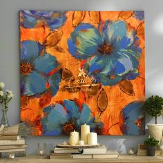Oil Painting Flowers, Oil Painting Abstract, Abstract Flowers, Watercolor Paintings, Abstract Art, Renaissance Paintings, Painting Lessons, Flower Art, Canvas Art