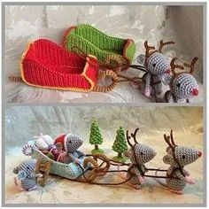 Christmas Crochet Patterns, Christmas Sewing, Christmas Knitting, Christmas Crafts, Art Au Crochet, Knit Crochet, Crochet Mouse, Theme Noel, Fun Crafts