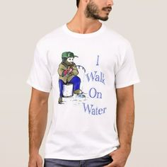 Shop I walk on water 2 T-Shirt created by saltypro. Personalize it with photos & text or purchase as is! Types Of T Shirts, Jesus Funny, Walk On Water, Tee Shirts, Tees, Funny Tshirts, Colorful Shirts, Fitness Models, Walking
